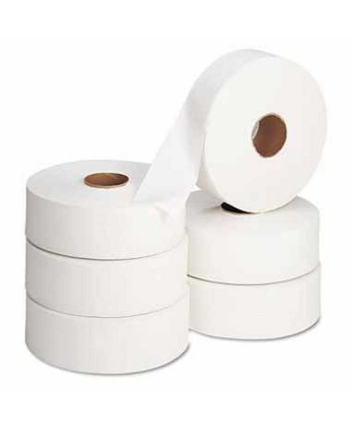 Maxi Jumbo Toilet Rolls 60mm Core 300mtr 2Ply White  (Case of 6)