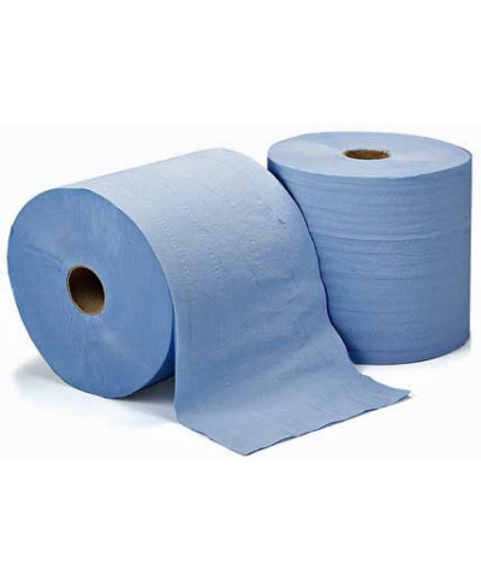 Industrial Wipes (2 x 1000 Sheets) Blue 2ply 360 mtr