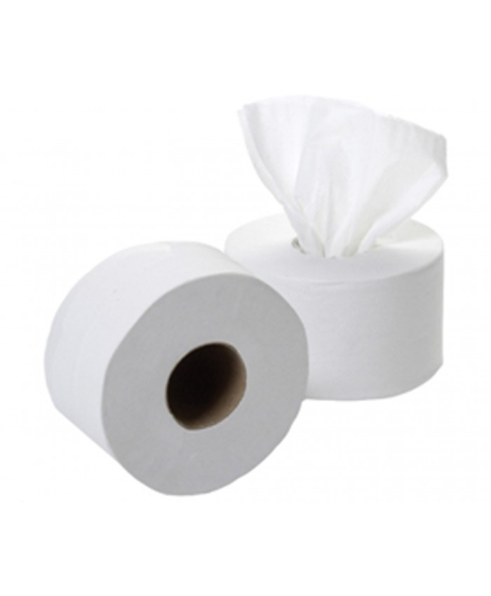 2Ply White Smartone Compatible Centre Feed Toilet Rolls