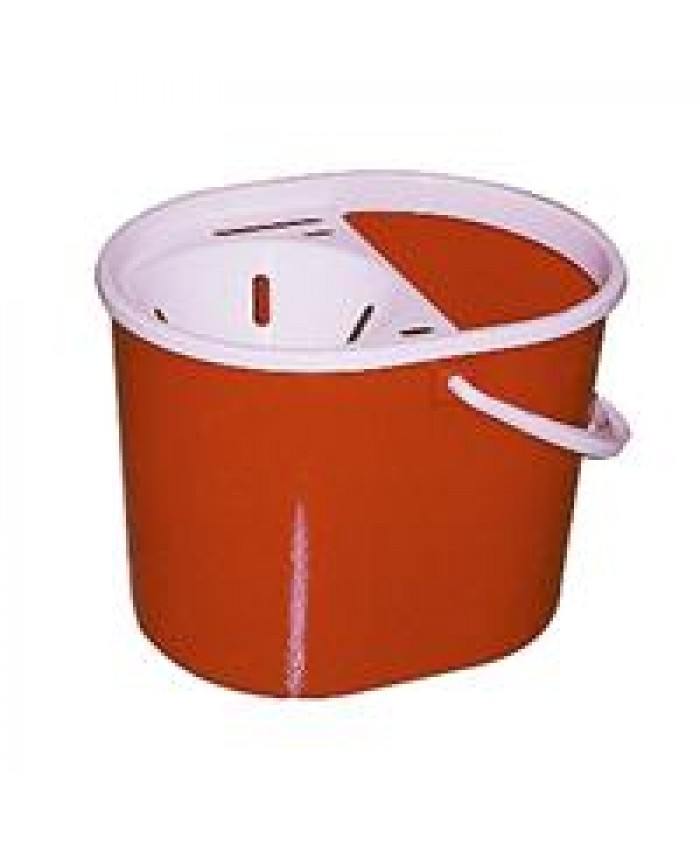 Lucy Plastic Oval Mop Bucket Red