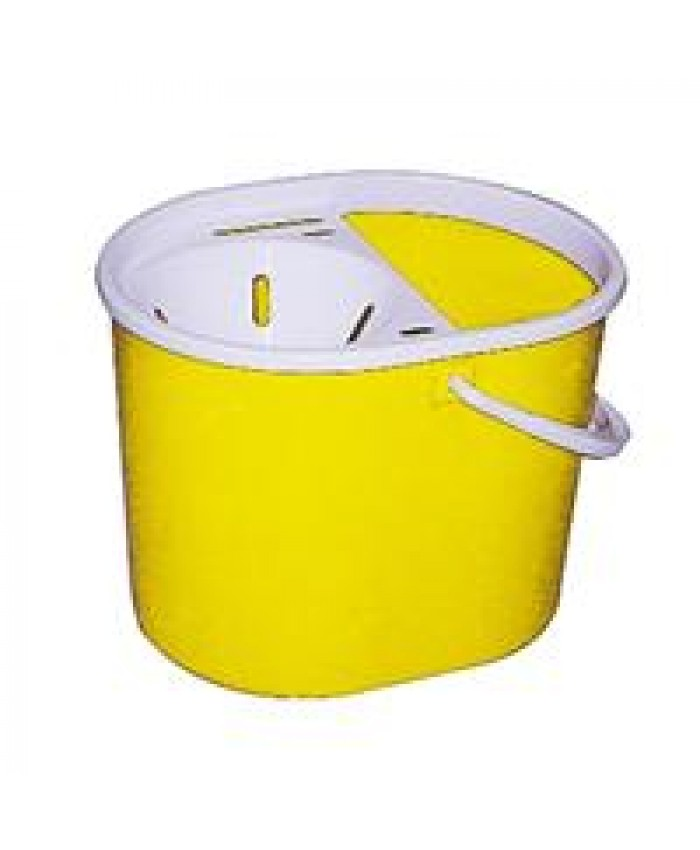 Lucy Plastic Oval Mop Bucket Yellow