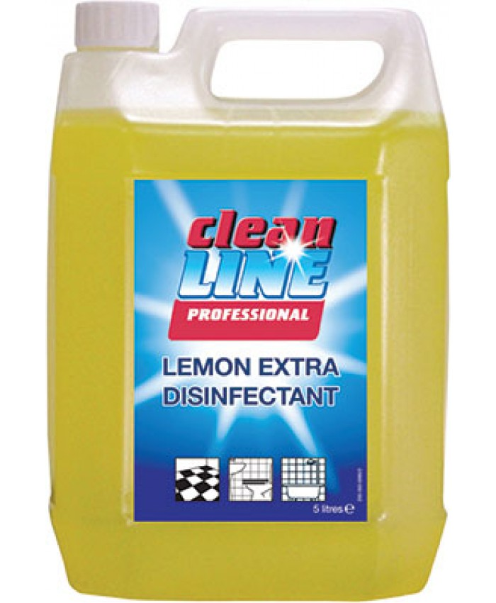Cleanline Lemon QAP 50 Disinfectant (5L)