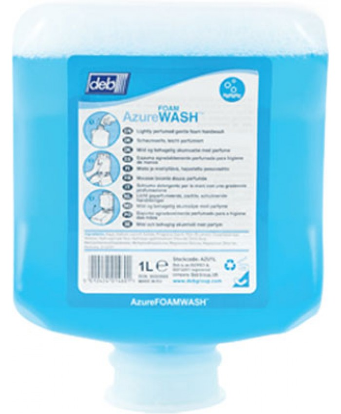 Deb Refresh Azure Foam Wash (1L) (Case of 6)