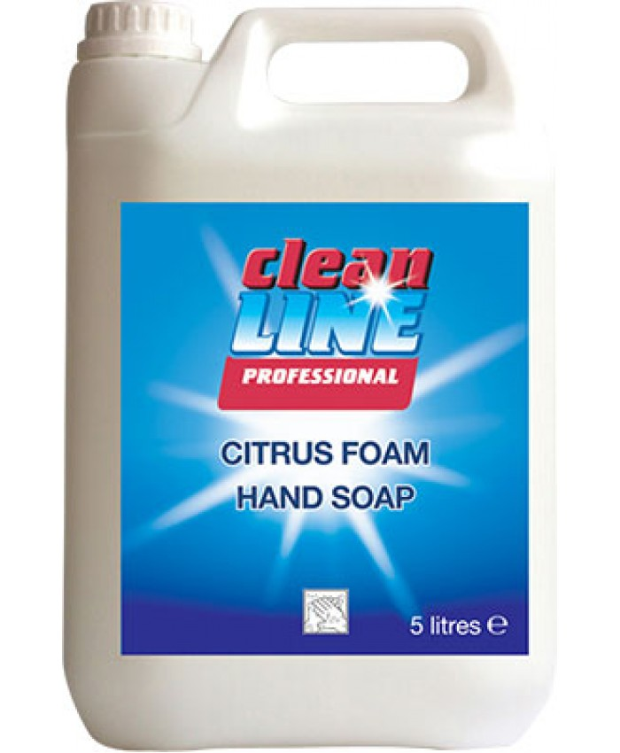Cleanline Citrus Foam Hand Soap (5L)