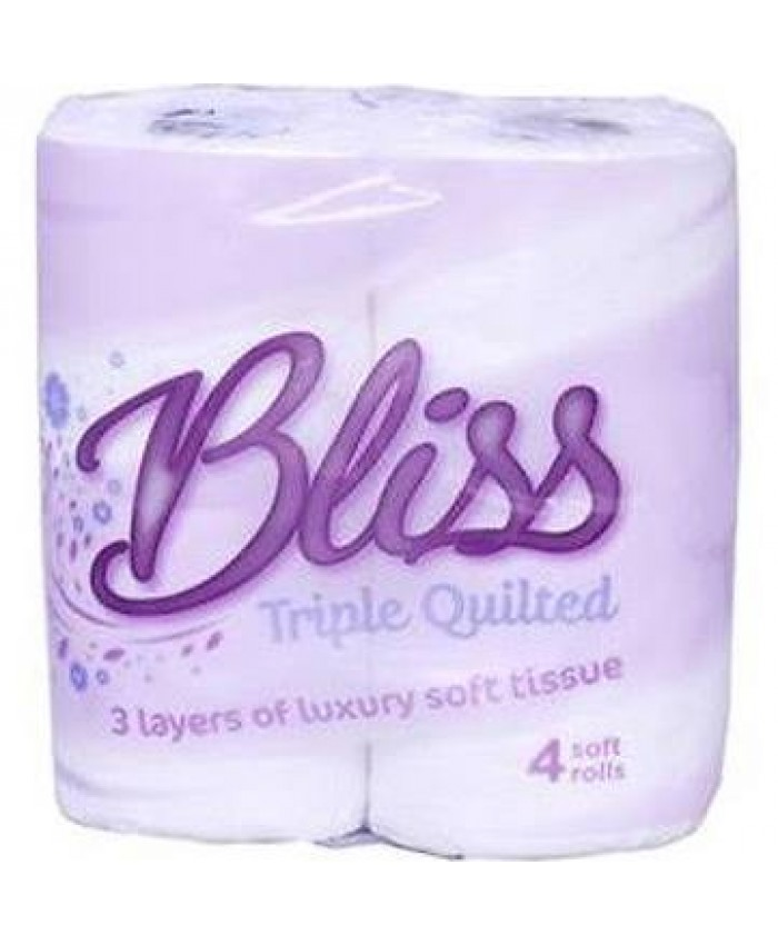 Toilet Rolls 3Ply White Triple Quilted 240 Sheets per roll (Case of 40)