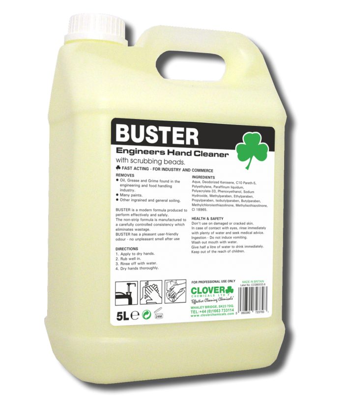 Buster Engineers Hand Cleaner with Scrubbing Beads (5L)