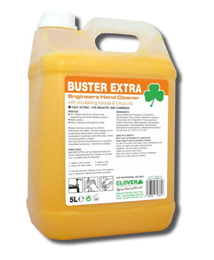 Buster Extra Engineers Hand Cleaner with Scrubbing Beads & Citrus Oils (5L)
