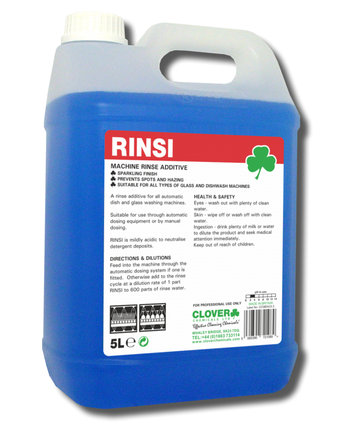 Rinsi Dishwash Machine Rinse Additive (5L)