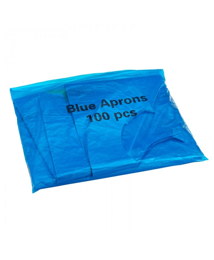 Disposable Aprons Blue (100 Pack)