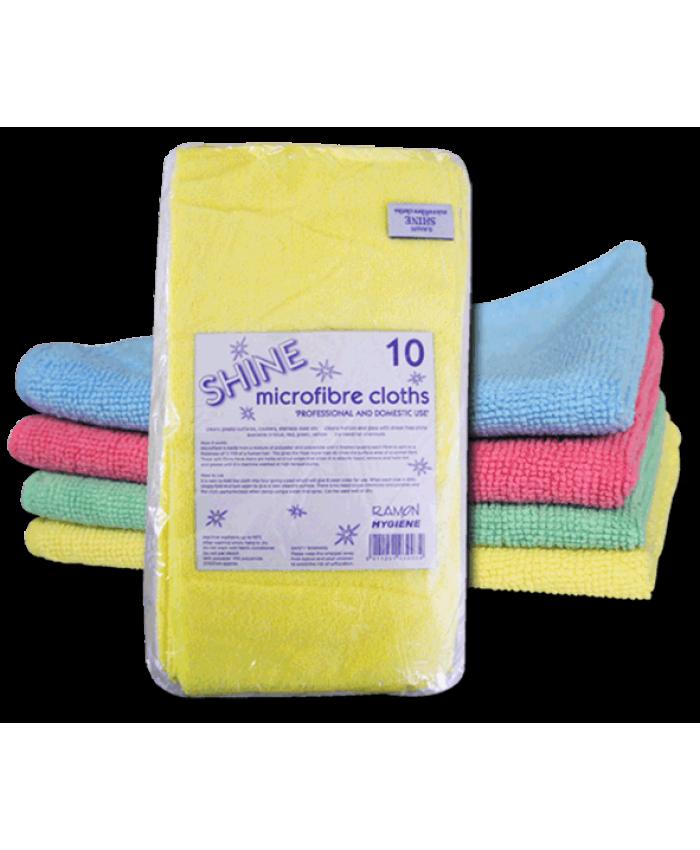 Shine Microfibre Cloths (10 Pack) Blue