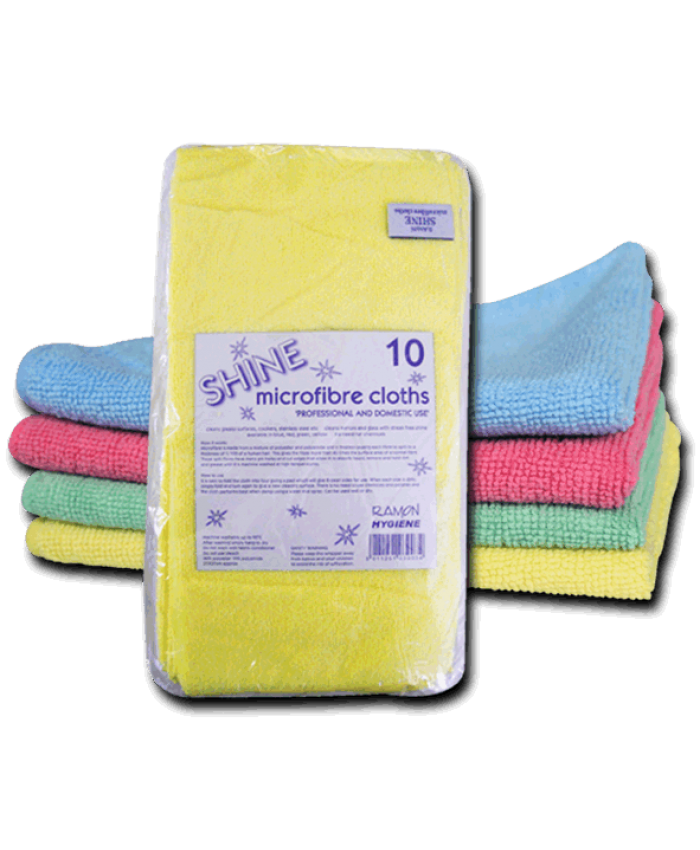 Shine Microfibre Cloths (10 Pack) Green