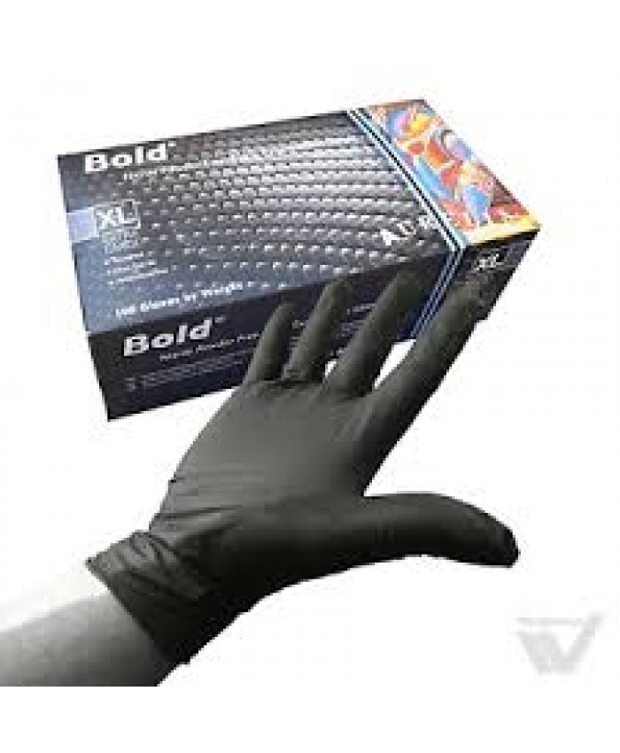 Bold Nitrile Gloves Powder Free (1 x 100) Medium