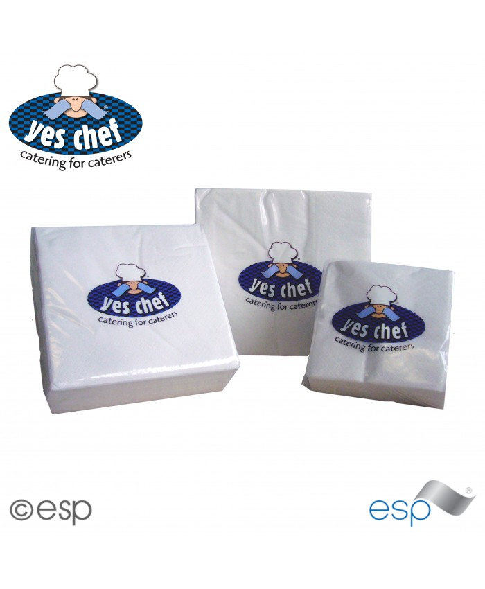 Serviettes / Napkins 1Ply White (5000 Per Case)