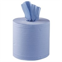 Centrefeed Rolls 2 ply Blue 150 Metre Embossed  (6 Per Case)