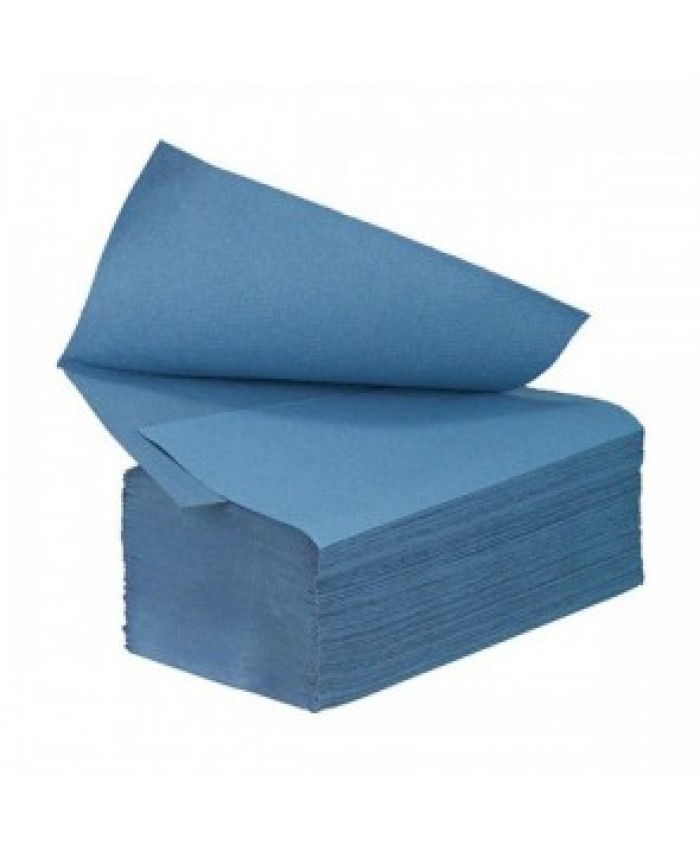 Inter-Fold Hand Towels Blue 1Ply (3600 Per Case)